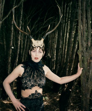 5. Isabella Blow with Horns, Gloucestershire, 1996, (c) Juergen Teller