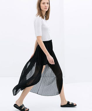 Zara-Long-Fine-Pleat-Skirtopener