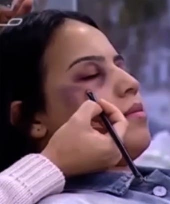 Domestic Violence Makeup Tutorial Moroccan State TV