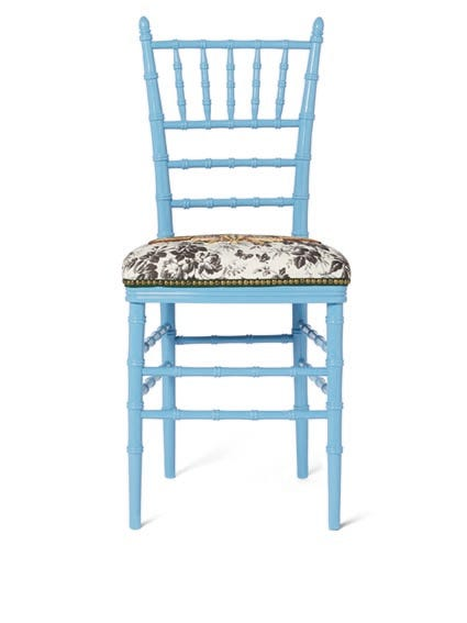 Gucci Chiavari Chair With Embroidered Moth, $2,600, Available At Gucci.