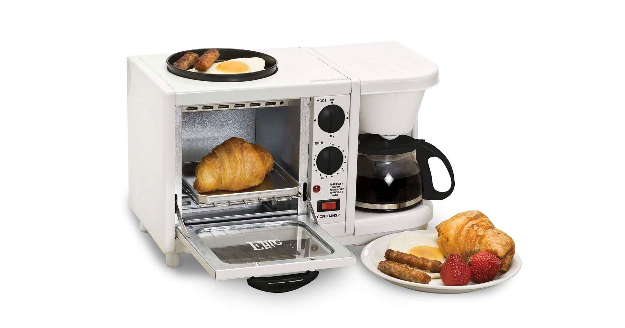 Three-In-One Breakfast Machines