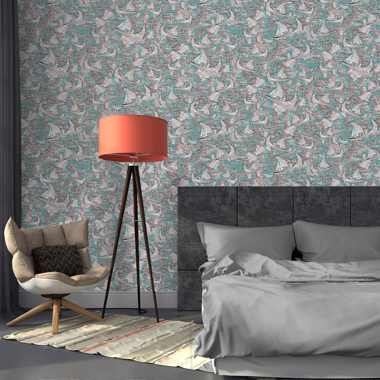You ll Either Love Or Hate This Super Trippy Wallpaper. 3D Wallpaper   Home Decor Trends