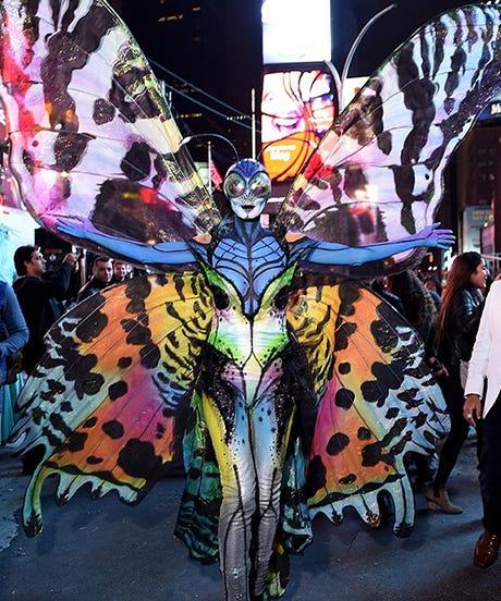 Heidi Klum Butterfly Halloween Costume Video