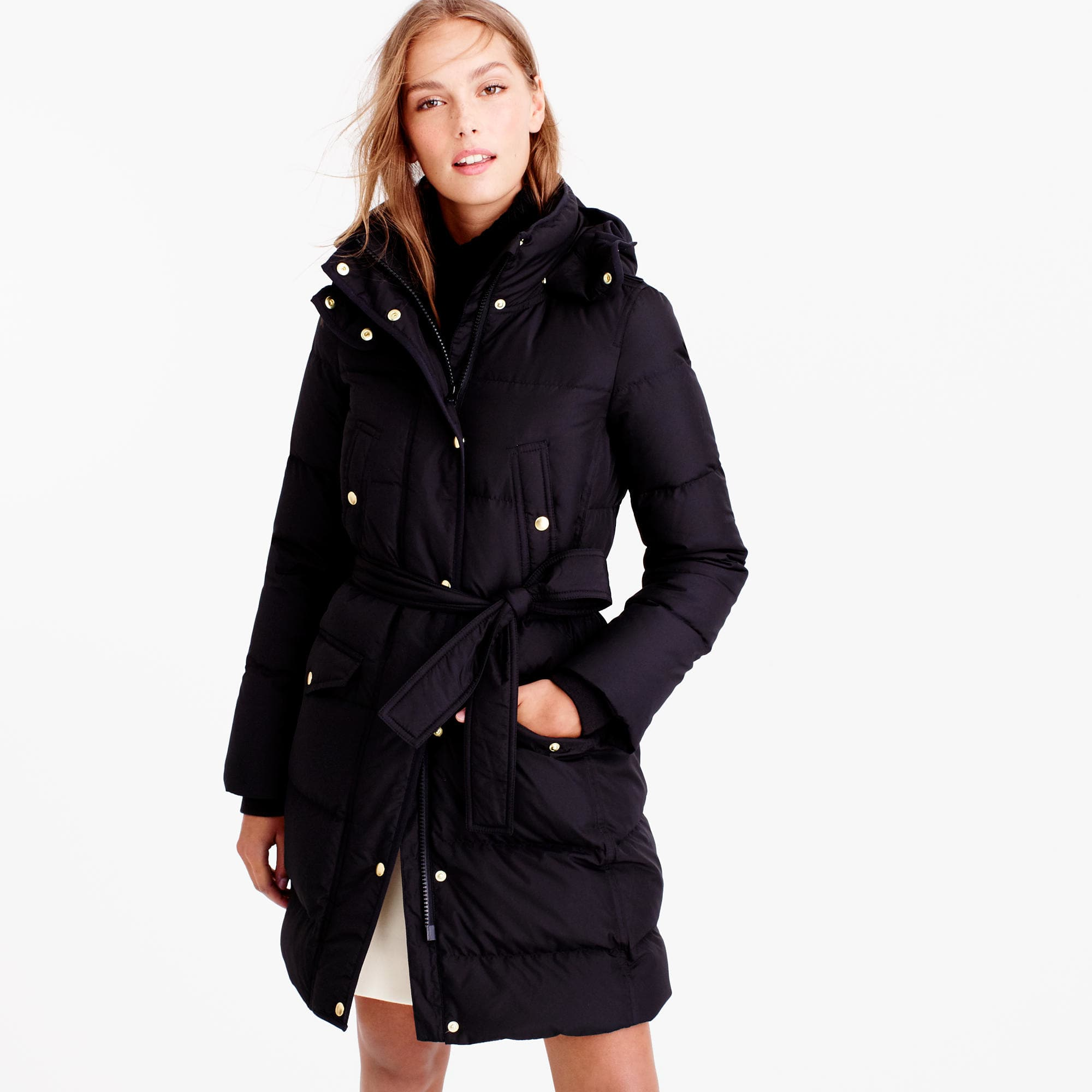 6dc41232 J.Crew Wintress Belted Puffer Coat, $298, available at J.Crew.