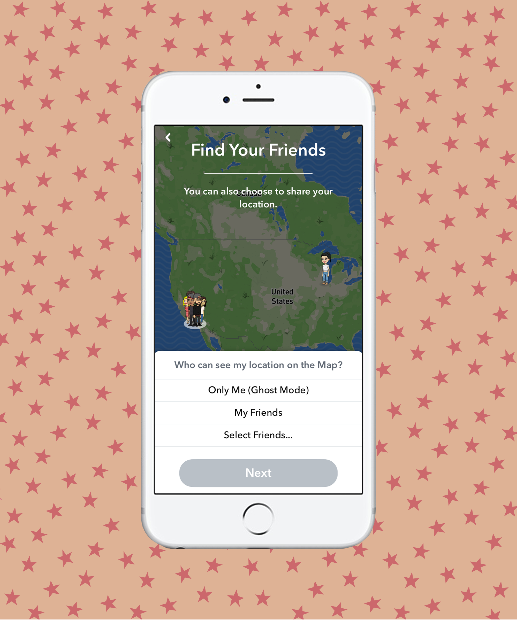 How To Use Snapchat Snap Map Find Friends Ghost Mode - Can i see a map of the united states