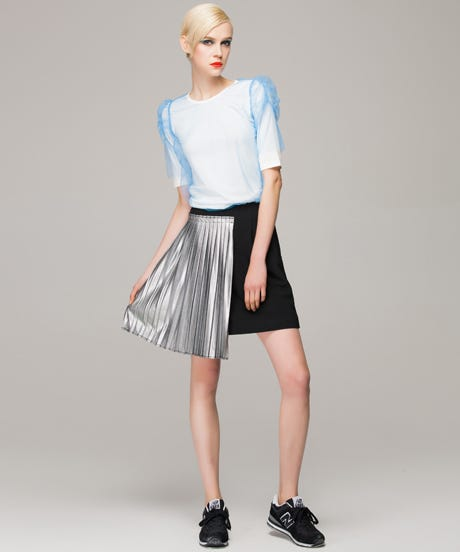Front-Row-Pencil-skirt-with-contrast-pleated-panel-main