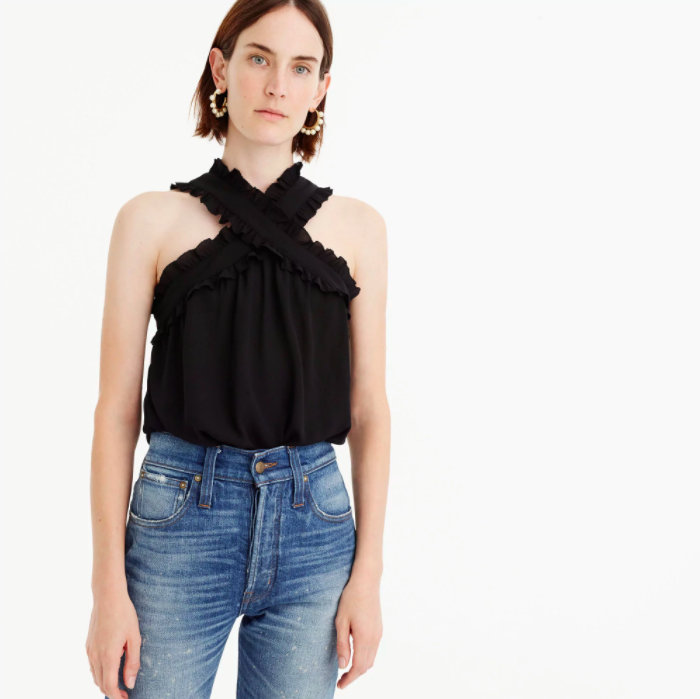 J.Crew Drapey Wrap Front Top, $59.50, Available At J.Crew.