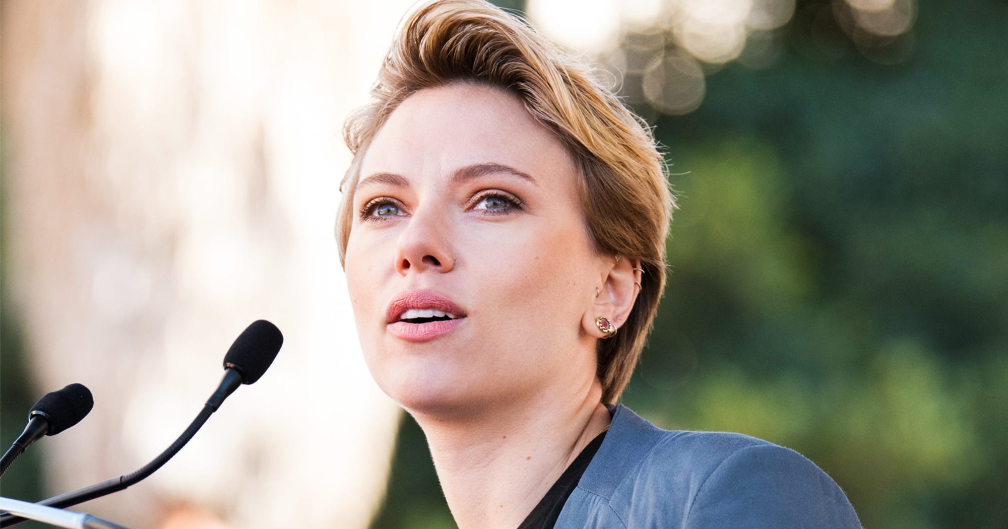 Scarlett Johansson Calls Out James Franco & Fake Allies At LA Women's March – Refinery29