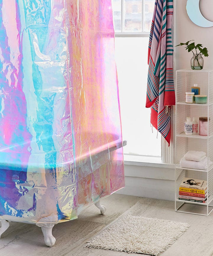 Amusing Design Of The Colorful And Cute Shower Curtains With White Toilets  And White Sink Ideas