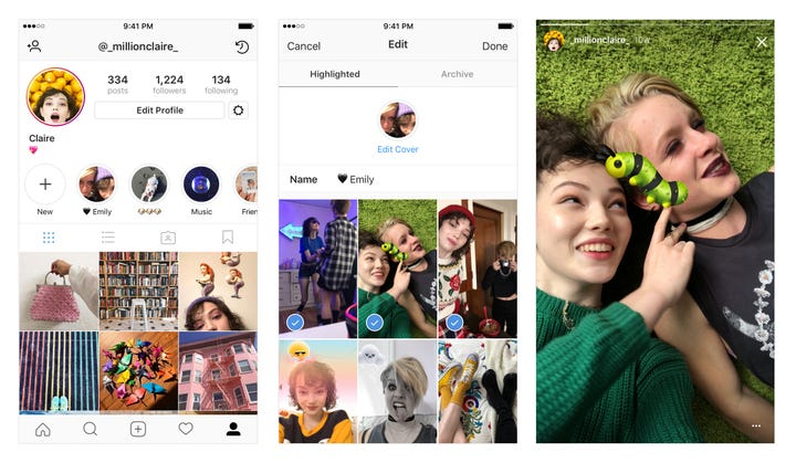 Instagram now lets brands feature Stories Highlights on their profile pages