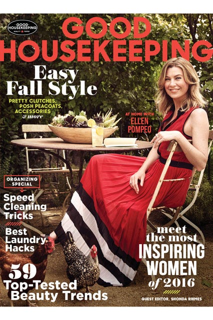 Ellen Pompeo Home Good Housekeeping