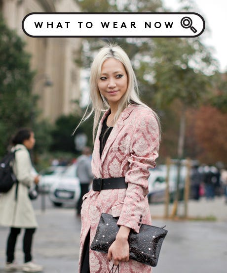 The Power Of A Printed Coat, In 6 Fashionable Acts