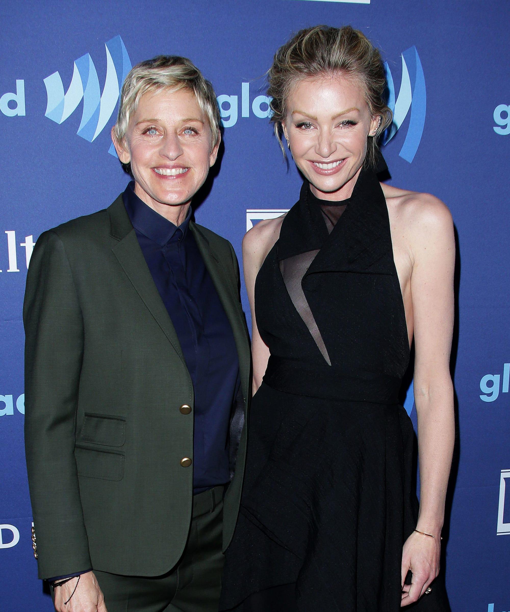 Ellen DeGeneres Portia de Rossi Birthday Photo
