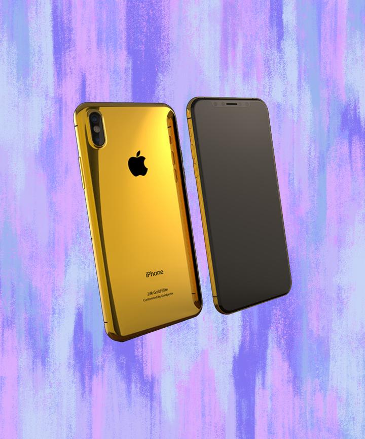 apple iphone 8 gold. your inner kim kardashian needs this 24k-gold iphone 8 apple iphone gold