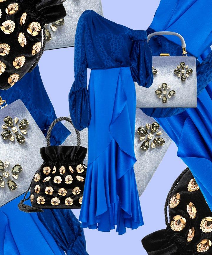 3 4 sleeve evening dress purses