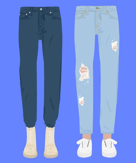 Low waist jeans history