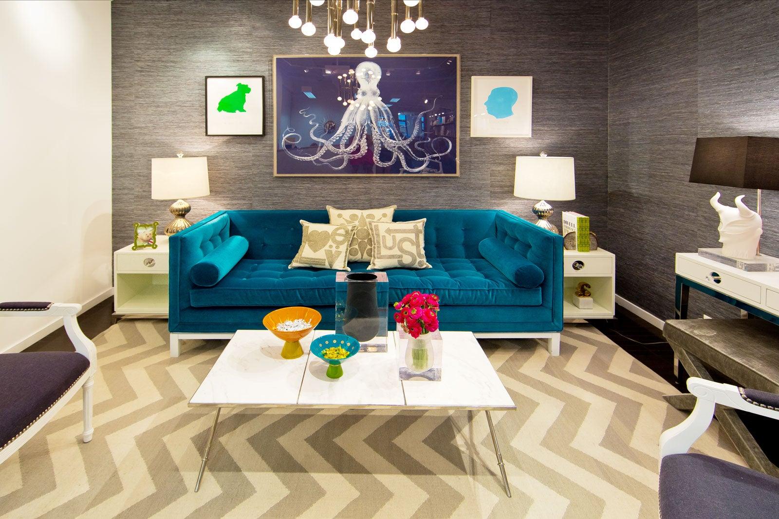 Jonathan Adler Studio Tour - Colorful Designer Office