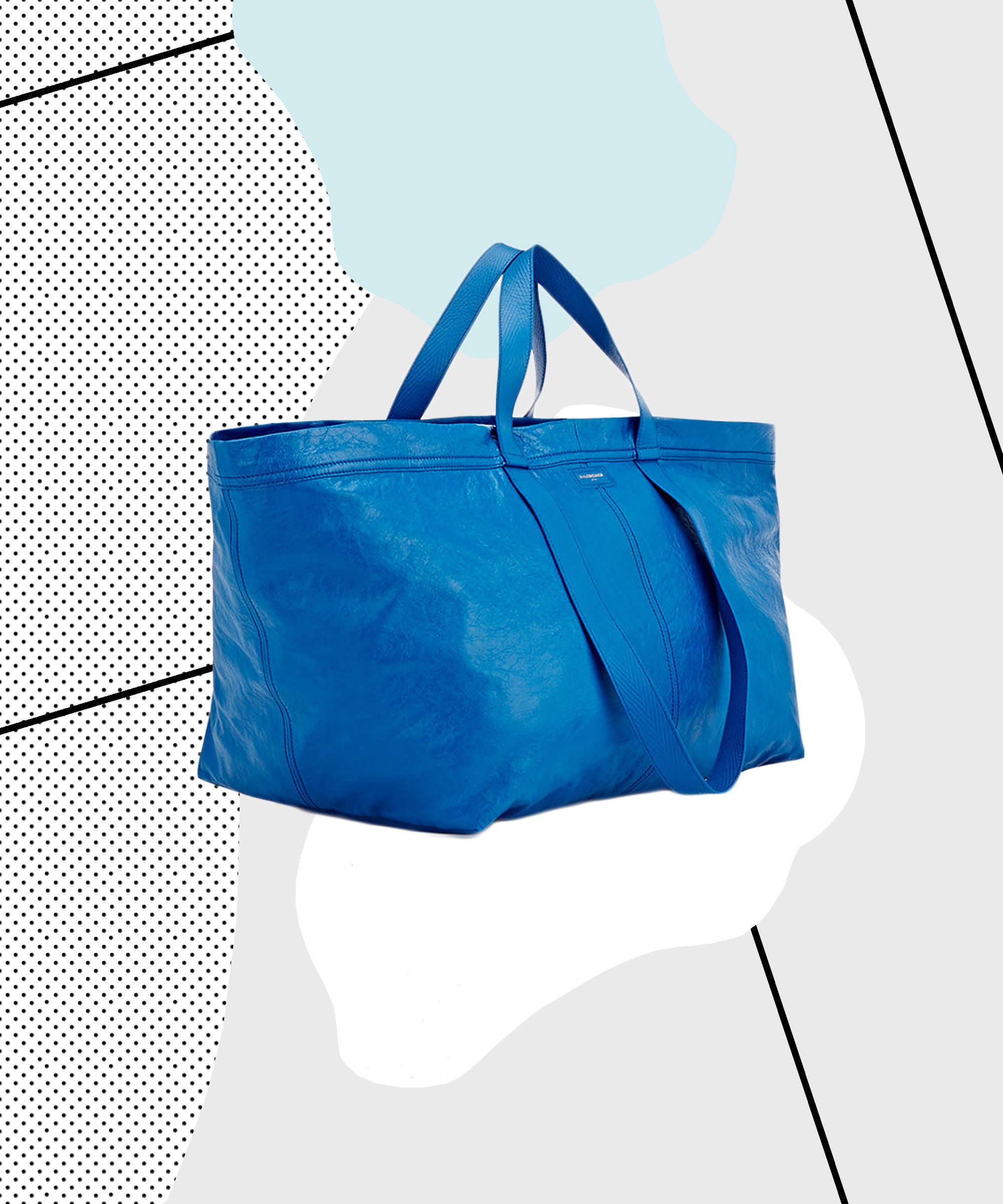 This $2145 tote looks just like a 99-cent Ikea bag