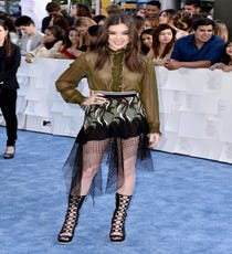 Hailee Steinfeld is one of the fashion industry's biggest cheerleaders on the red carpet. The actress consistently takes big sartorial risks just for the sake of wearing some of the runway's most forward-leaning looks. This head-to-toe Rodarte look was one of our favorites from the past season. We called it the adult's version of The Little Mermaid, and we think Steinfeld looks absolutely fantastic in fishnet.For A Similar Style Try:Rodarte Embroidered Lace & Net Skirt, $1955, available at Shopbop.