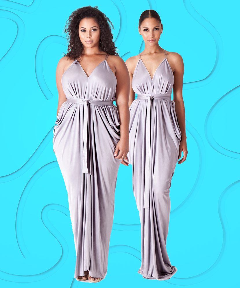 One Size Fits All Cheap Customizable Bridesmaid Dress
