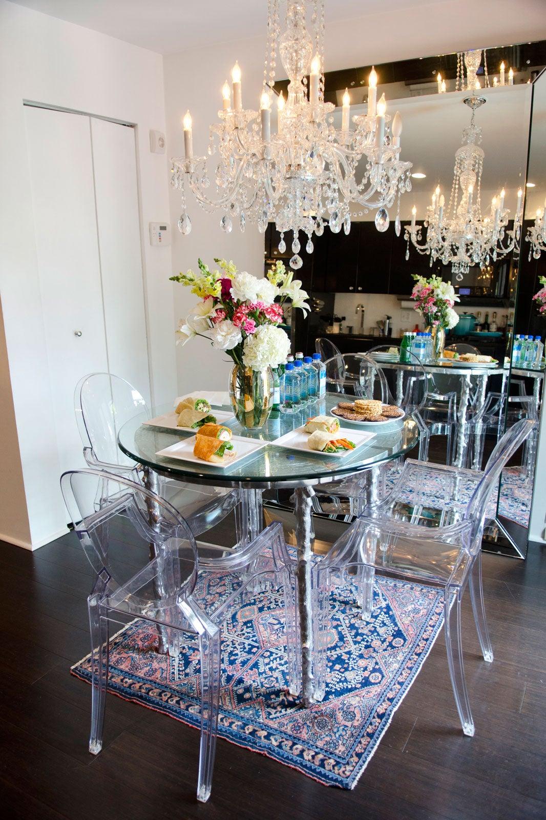 ghost chairs dining room | Aureta Thomollari Interview - Aureta's Blog Quotes Pics