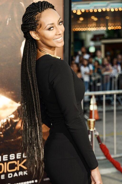 Box Goddess Braid Celebrity Hairstyles