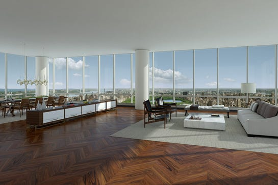 first 100 million dollar apartment sold in nyc
