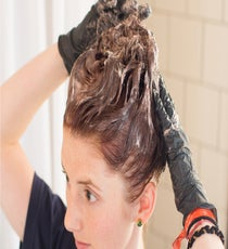 Mixing the color evenly and working the color all the way to the ends so it soaks in everywhere is essential when you're coloring your hair at home. Also, for full-length hair, go ahead and use the who