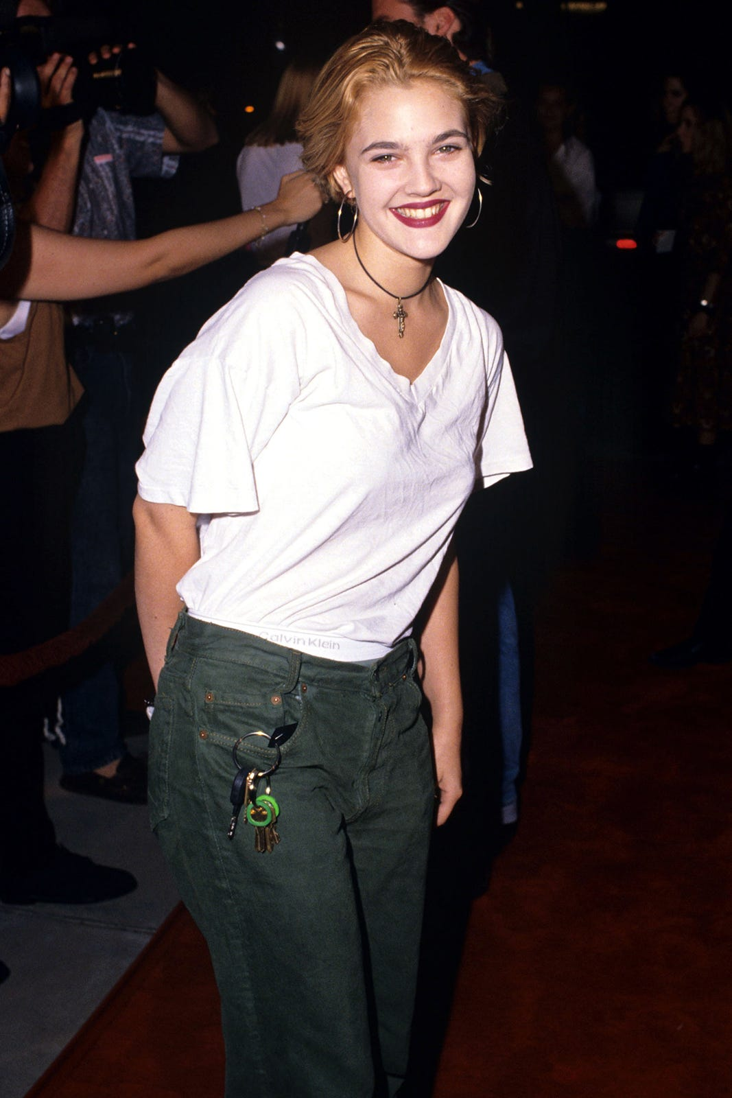Drew Barrymore Lookbook Throwback 90s Fashion