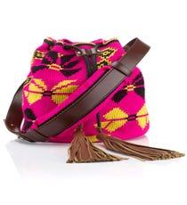 Sara Battaglia Fuchsia Mochila Bag, $274 (originally $915), available at Avenue 32.
