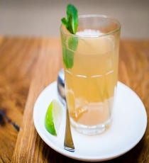 Hot Mint Emoliente at Andina  Andina's Peruvian-influenced pisco concoctions are a boozehound's dream, but those going dry needn't despair. Along with a range of tart, tangy, and totally good-for-you juices, this Shoreditch newcomer is serving up the hot beverage that might just make you swear off PG Tips for good. Available in plain, mint