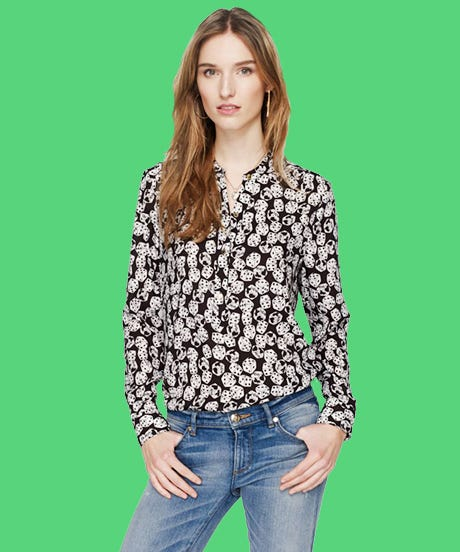 Shop classy vintage, boho and diy style blouses online. Color of pattern blouses range from black, white and blue.