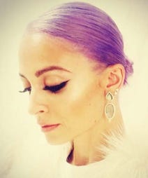 nicole richie purple hair