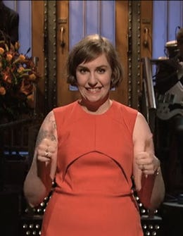 Lena Dunham Got Naked On SNL & Other Highlights