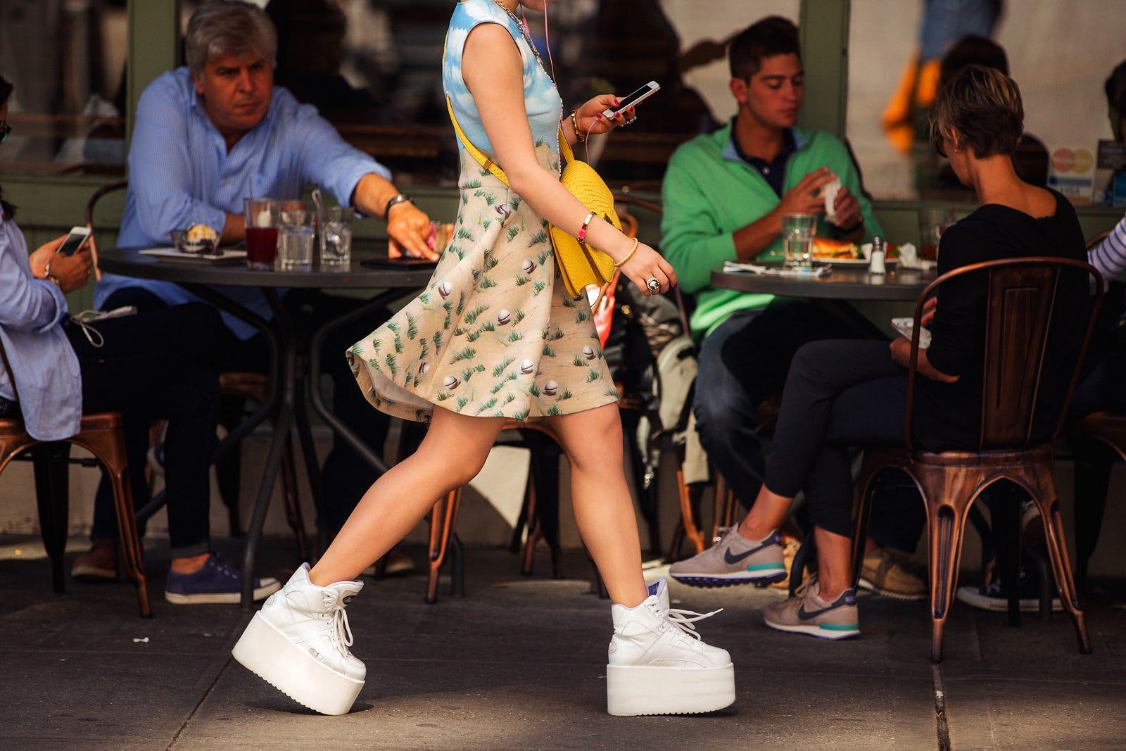 Sneaker Stalking How Real Women Wear Them In Nyc