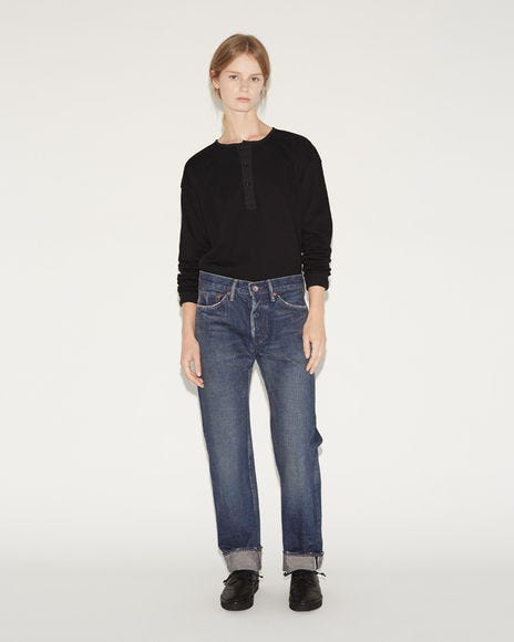 Non Stretchy Denim High Waisted Jeans
