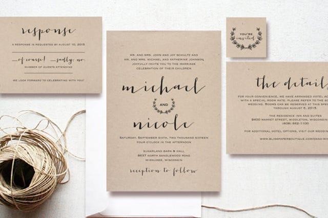 Cheap Unique Wedding Invitations: Wedding Invitation Ideas Cheap Card Invites Stationary