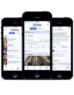 Try iCitizen, The App For Your Inner Political Activist