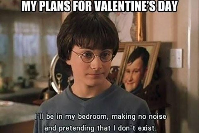 Funny Quotes Being Alone Valentines Day : Funny Valentines Gifs For Single  Memes