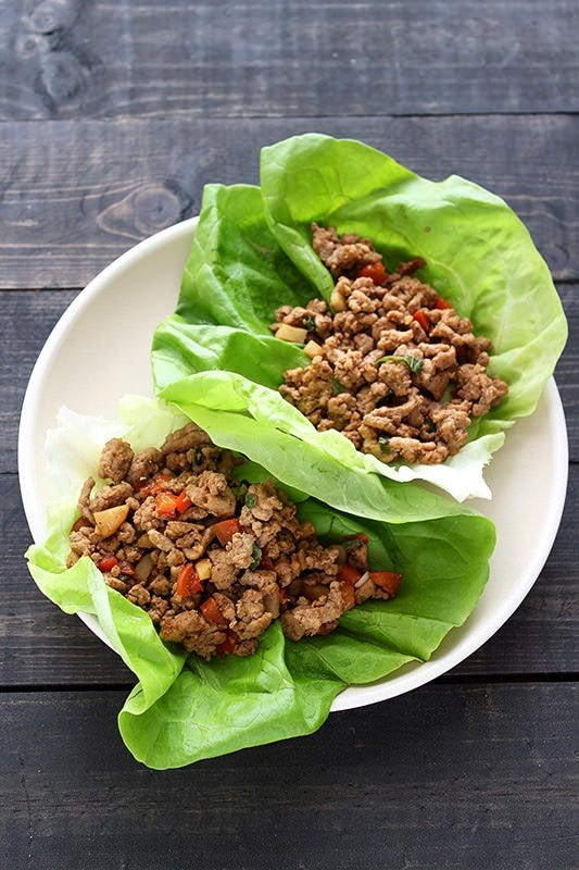 turkey lettuce wraps ground recipes recipe easy asian fresh healthy handle heat dinner via handletheheat minutes dish thanksgiving foods takes