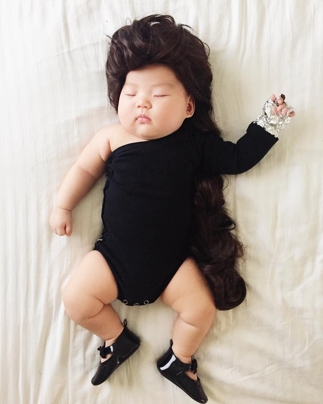 sleeping baby dress up instagram. Black Bedroom Furniture Sets. Home Design Ideas
