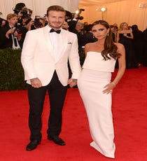 David & Victoria BeckhamIt wouldn't be a Met Ball without Posh and Becks, and, fittingly, they look totally chic — and color-coordinated.