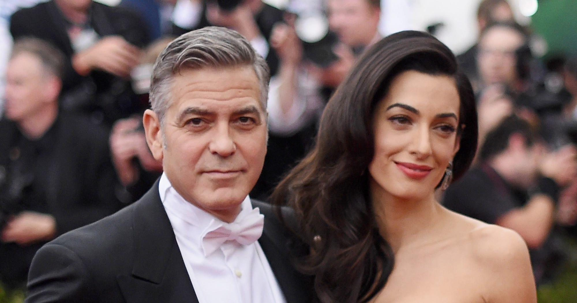 George Clooney and Amal Alamuddin  POPSUGAR Celebrity