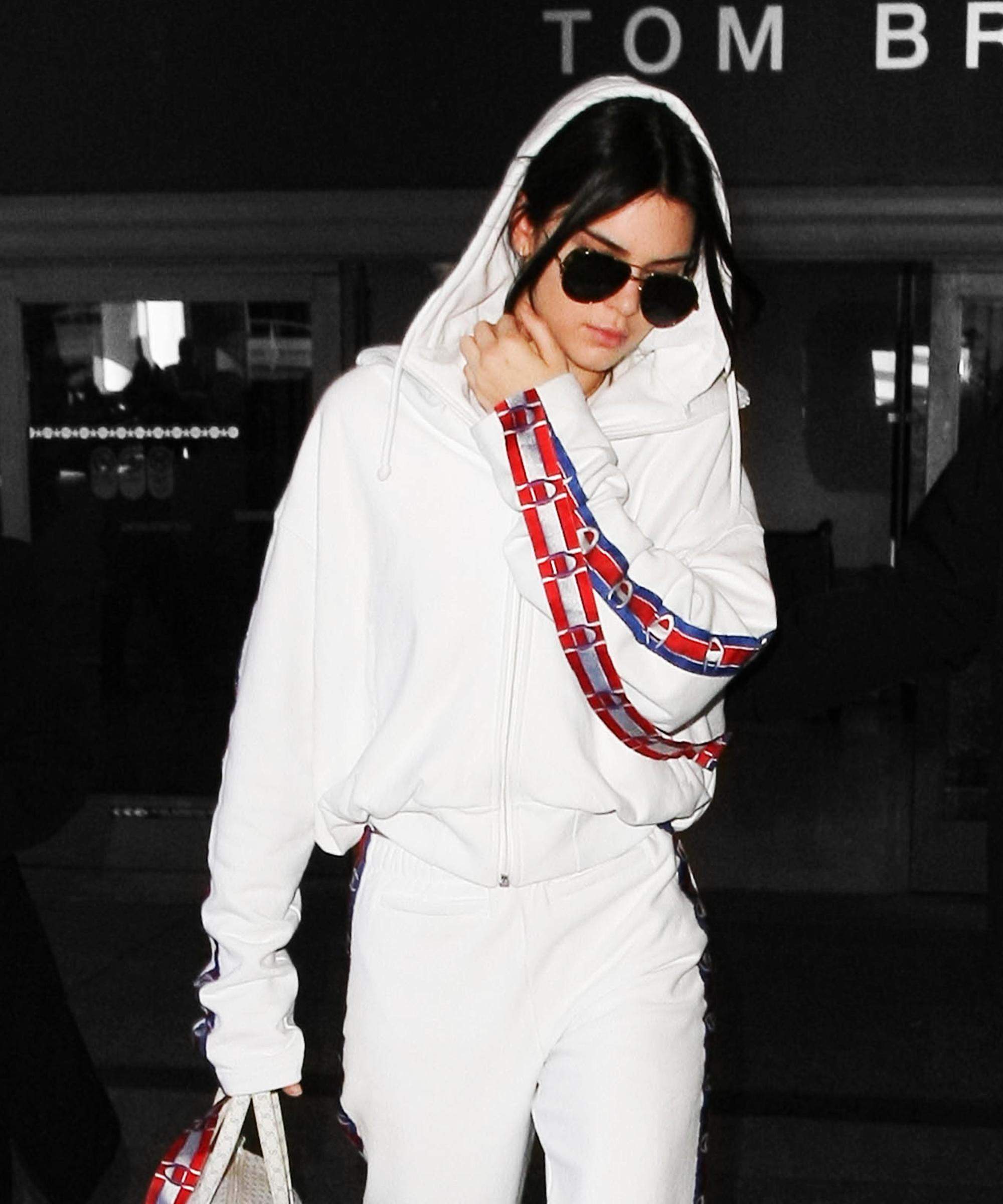 Vetements Champion Hoodies Celebrity Look Kylie Jenner