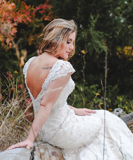 Brides with tattoos unique wedding fashion for Covering tattoos for wedding
