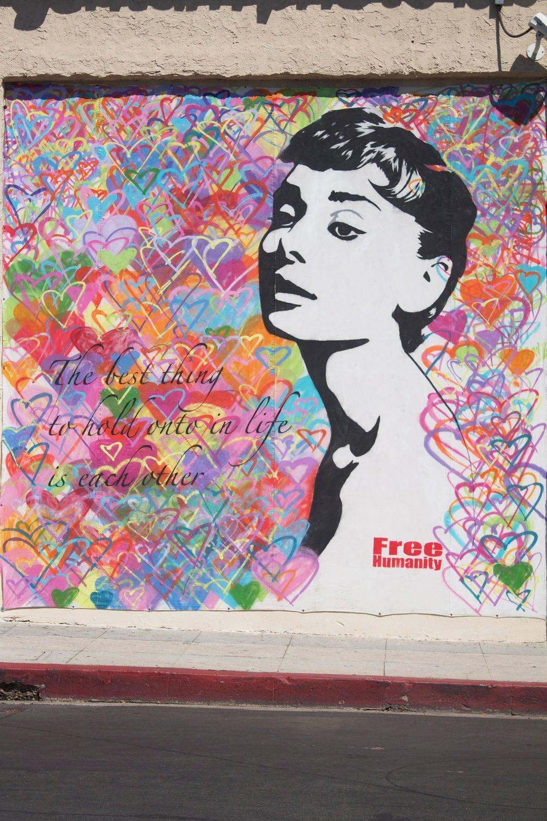 Street art la coolest graffiti los angeles for Audrey hepburn mural los angeles