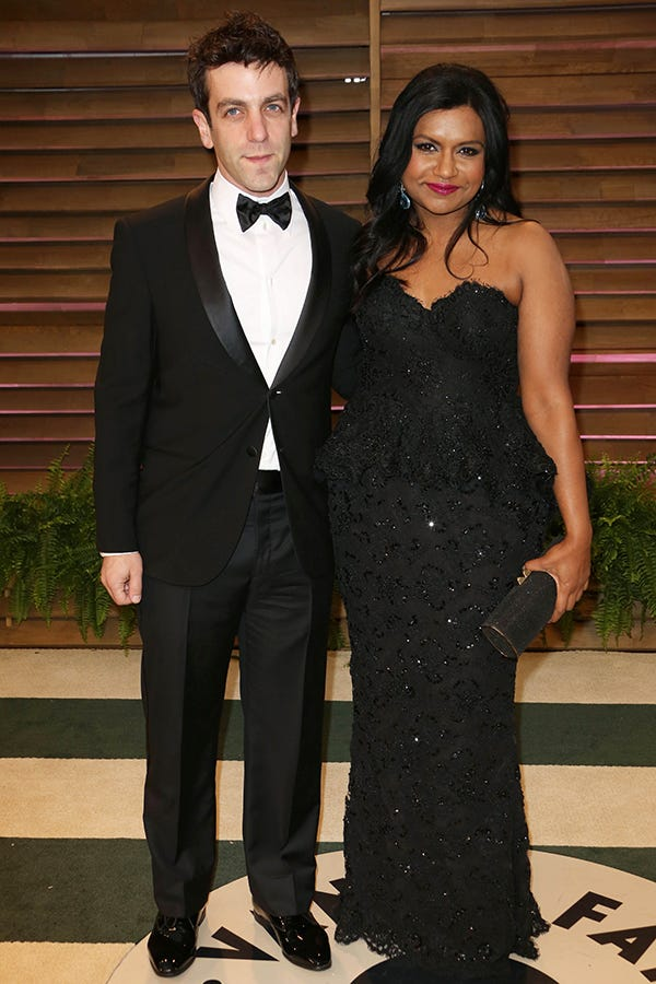 ?Actress Mindy Kaling with former boyfriend BJ Novak