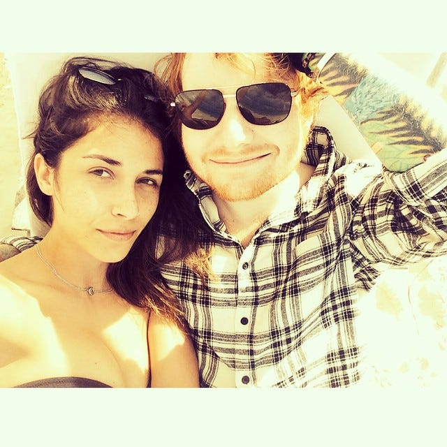 Ed Sheeran Girlfriend - Athina Andrelos Instagram