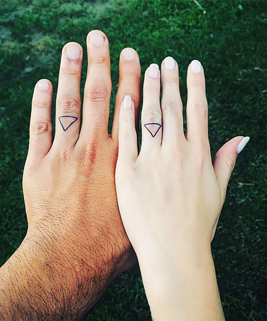 Engagement ring finger tattoo ideas for Tattoo tip percentage