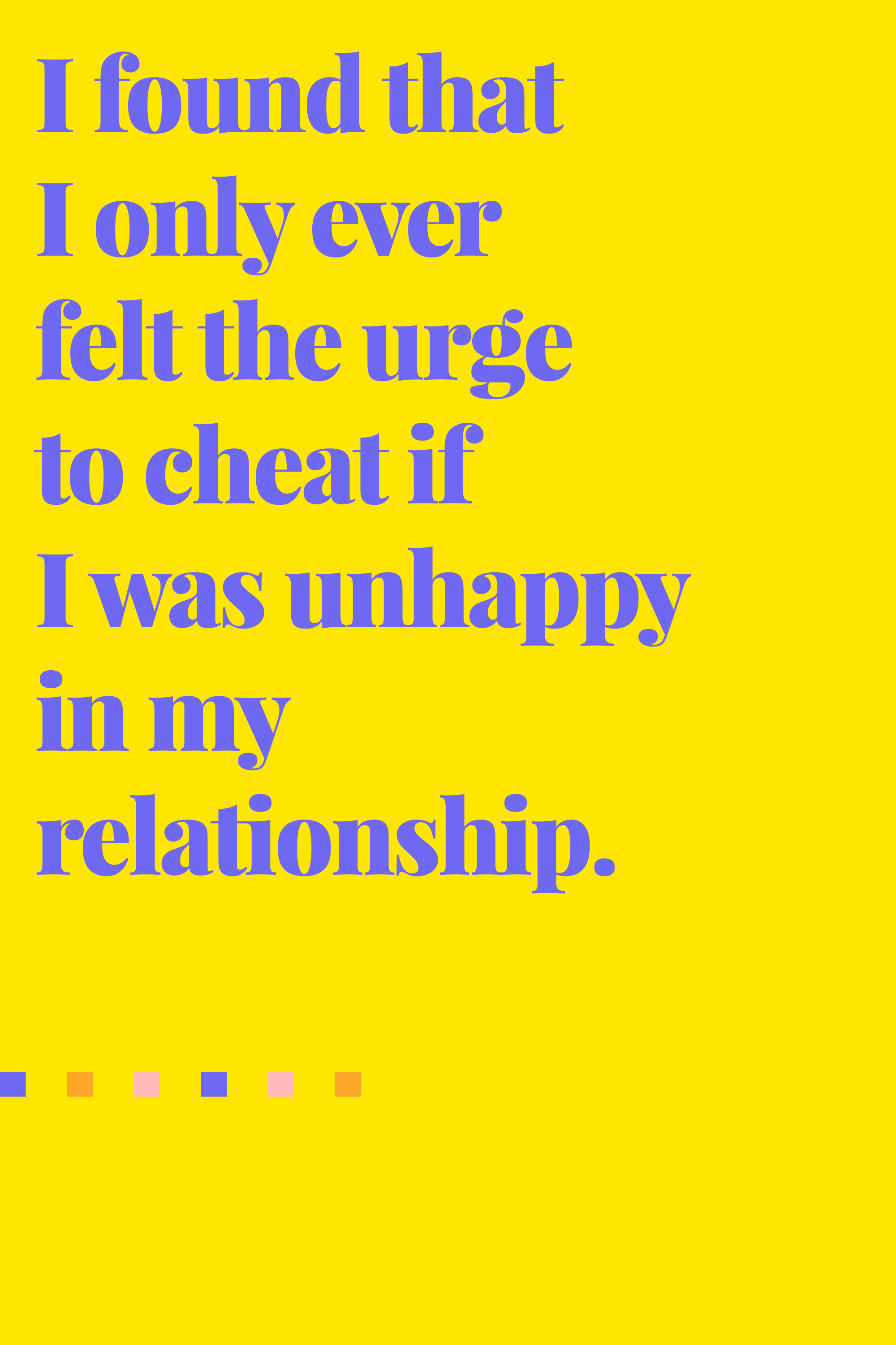 why do people in relationships cheat The probability of someone cheating during the course of a relationship infidelity dissected: new research on why new research on why people cheat.